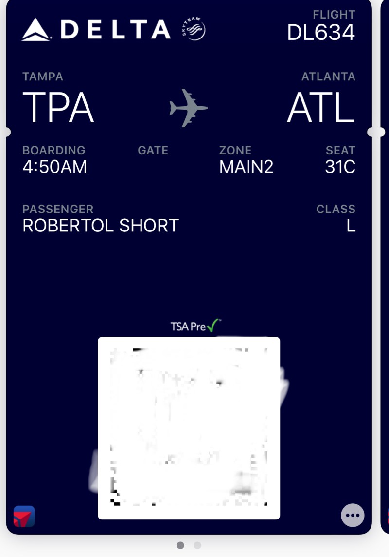 Delta Airlines Boarding Pass