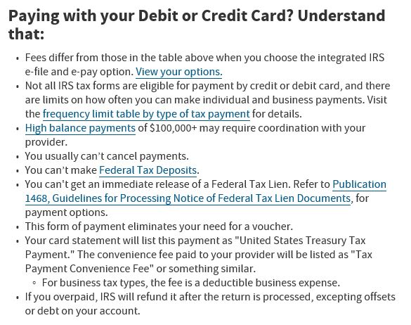IRS Repayment Options