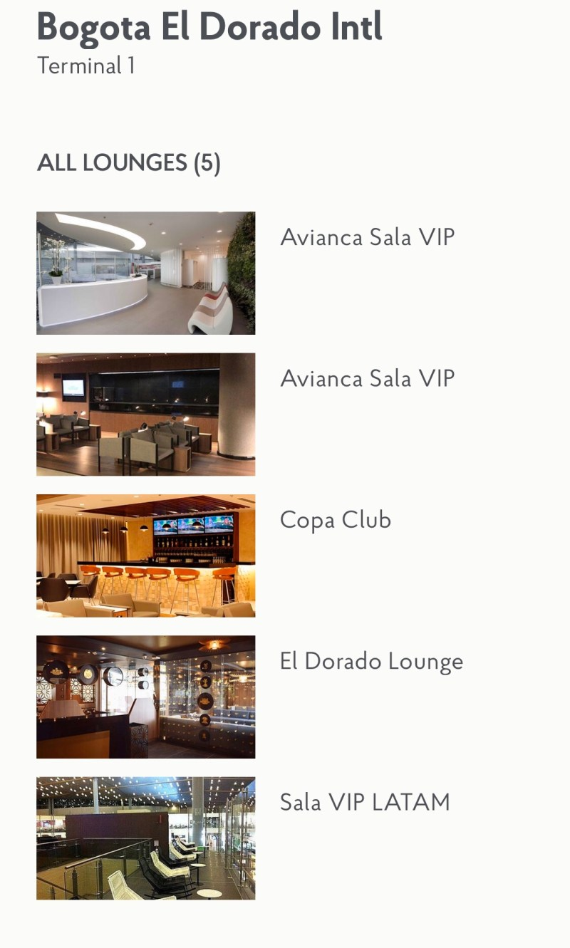 Bogota Priority Pass Lounges