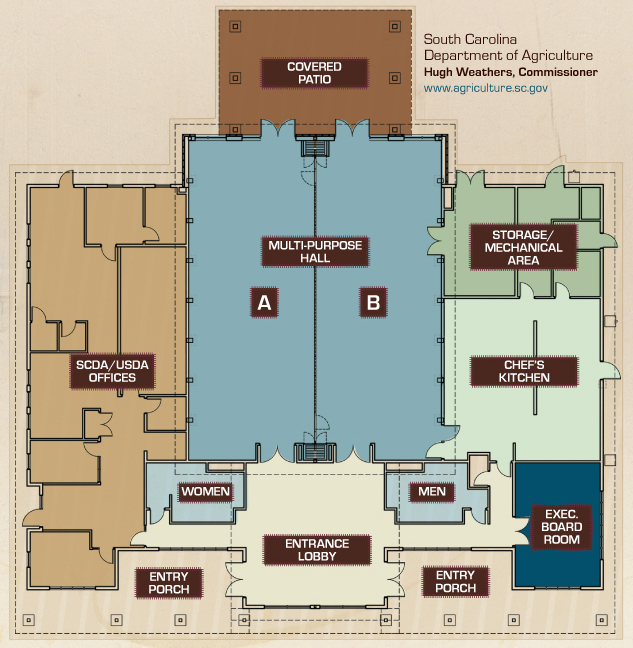 Floor plan of the Phillips Market Center