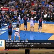 Phillips Murrah OKC Thunder BLocks for Bucks TV still frame