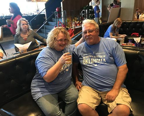 Friends and family of Phillips Murrah employees attending Bowling Night on May 10 at Dust Bowl Lanes to show their support for Big Brothers Big Sisters of Oklahoma