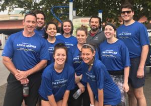 Law & Oarder, Phillips Murrah's rowing team, gets ready to compete in the 2018 Oklahoma Regatta Festival.