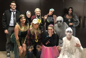 Phillips Murrah staff members dress up for the Firm's annual Halloween costume contest.
