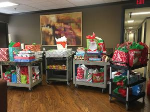 Gifts provided to families for 2018 holiday season through Oklahoma Family Network