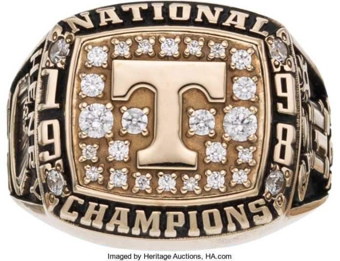 1998 Tennessee Vols National Championship ring