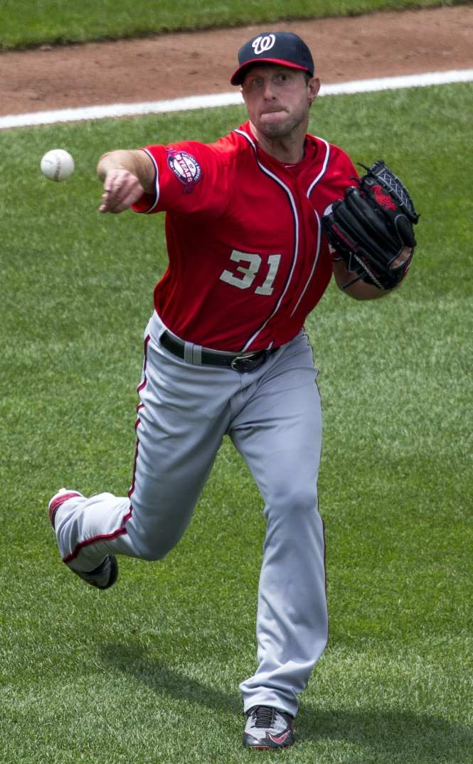 Max Scherzer of the Nationals pitching staff could help lead the Nationals to an NL pennant