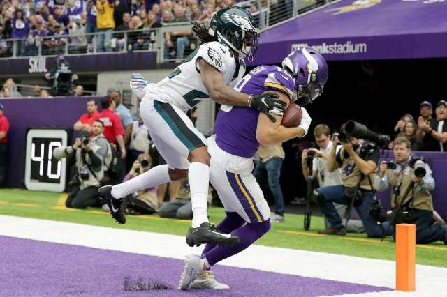 Vikings scoring TD over Philly coverage