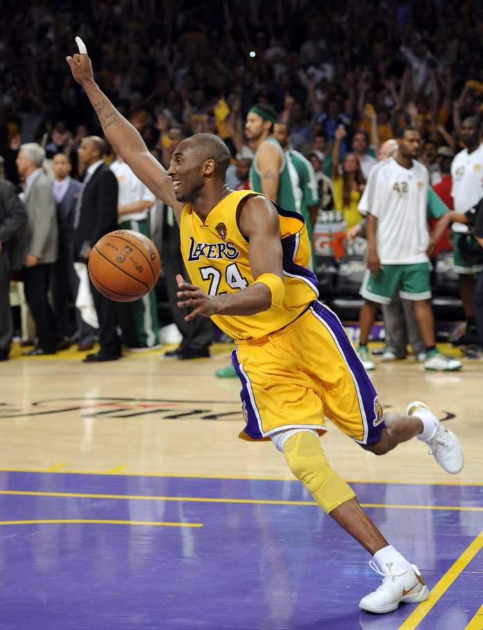 Kobe Bryant after the final buzzer of game 7 of the 2010 NBA Finals