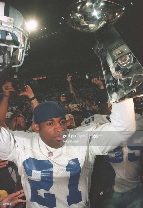 Deion Sanders winning his 2nd super bowl with the Cowboys. Will Jeff Okudah be able to lead the Lions to a super bowl title?