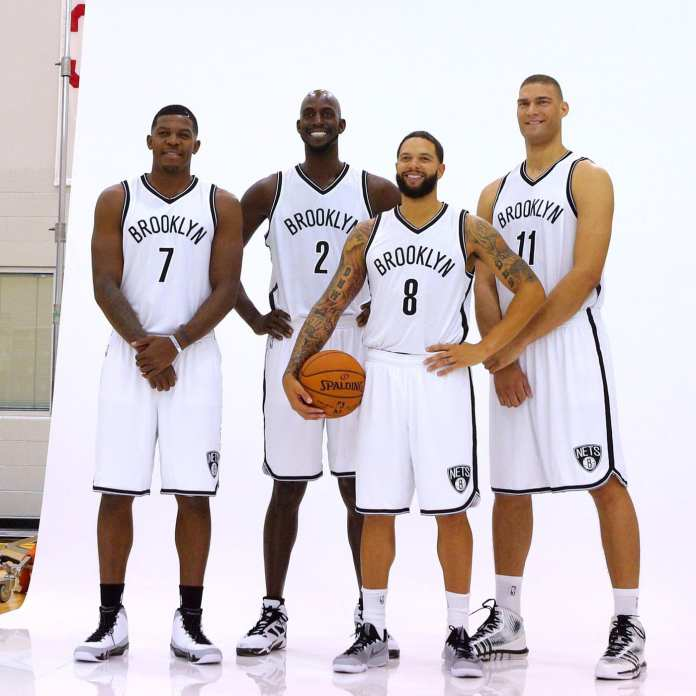 The 2014 Nets starting five.