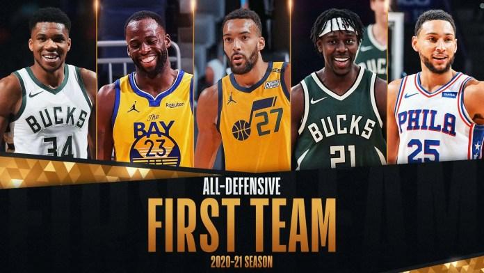 The 2021 NBA 1st team all-defense