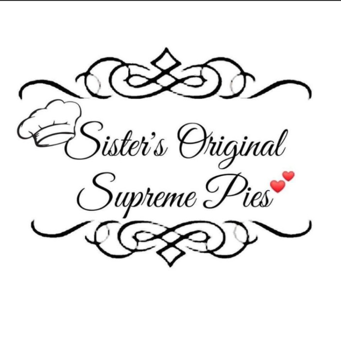 Logo for Sister's Original Supreme Pies with the text in script