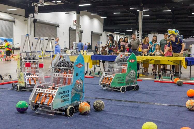 Sparky's Robot World, presented by FIRST Robotics Team #341