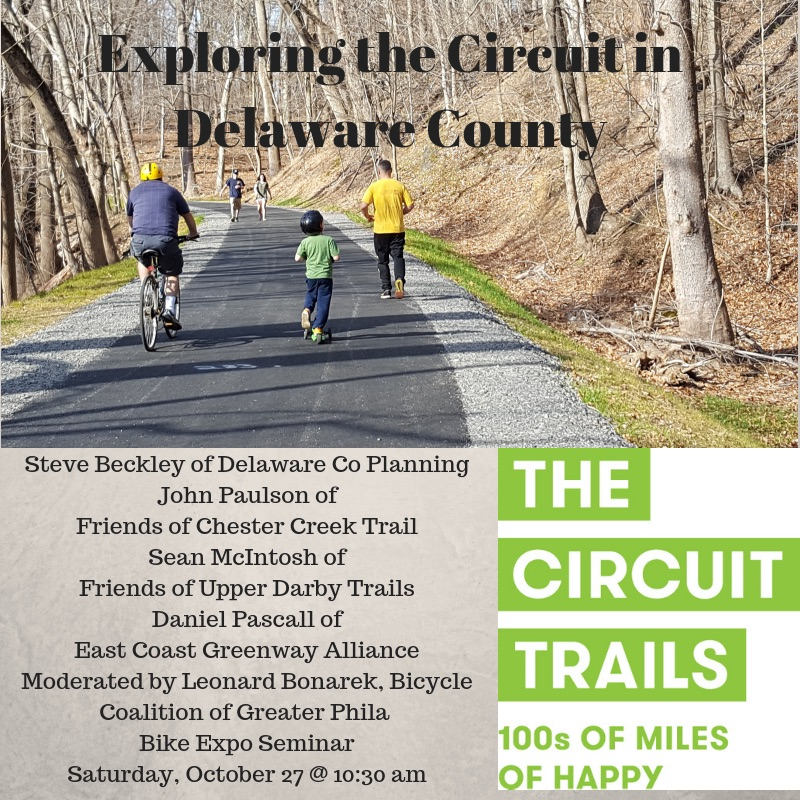 Connecting the Circuit in Delaware County: Darby Creek Trail, Chester Creek Trail, East Coast Greenway and More