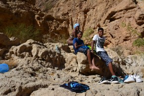 After swimming in the Wadi