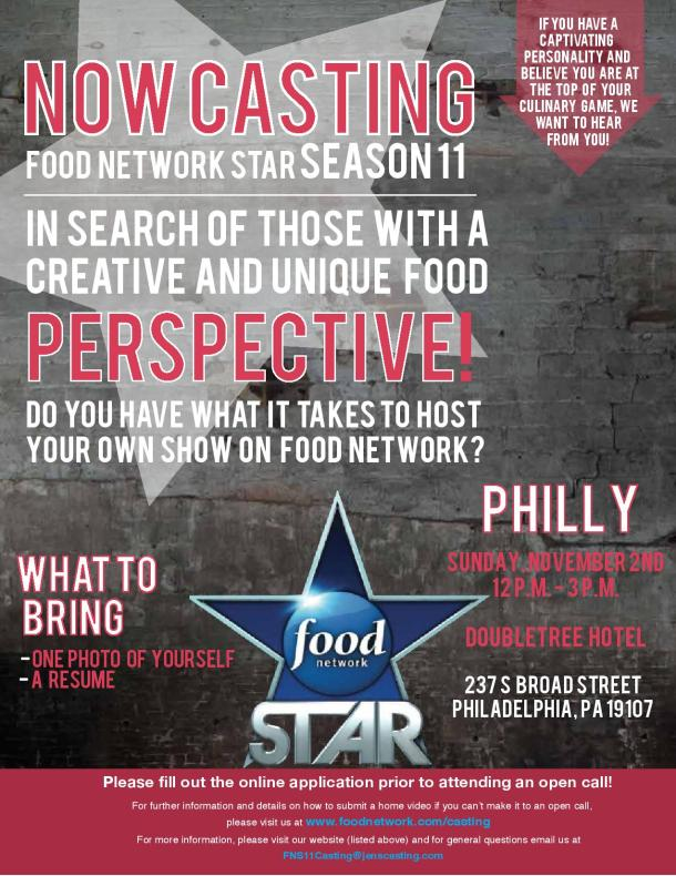 Food Network Star Season 11 Philadelphia Casting Call