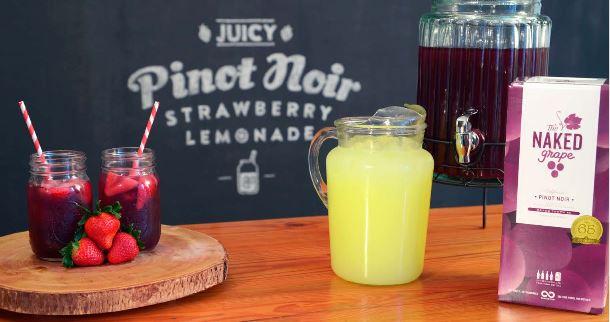 The Naked Grape Pinot Noir Strawberry Lemonade