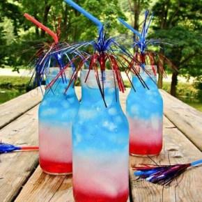 Fourth of July Bottle Rocket Cocktail