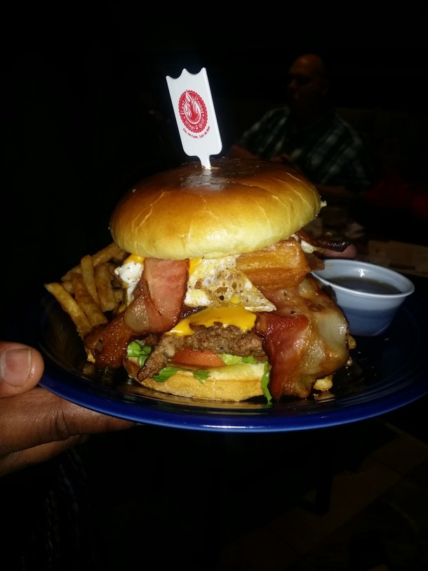 East Coast Wings Breakfast Club Burger