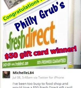 $50 Fresh Direct Gift Card Winner!