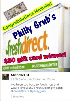 Fresh Direct 50 Dollar Winner