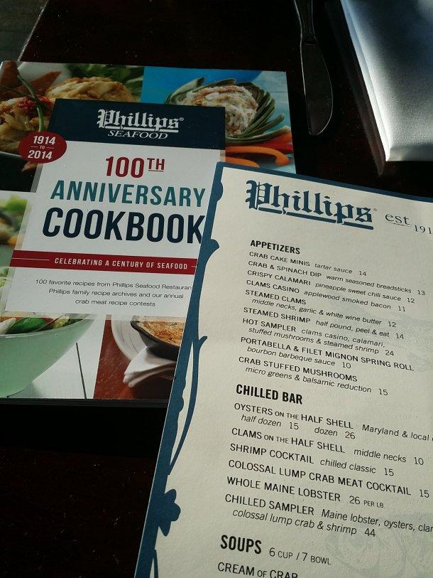 Phillips Seafood Cookbook and Menu
