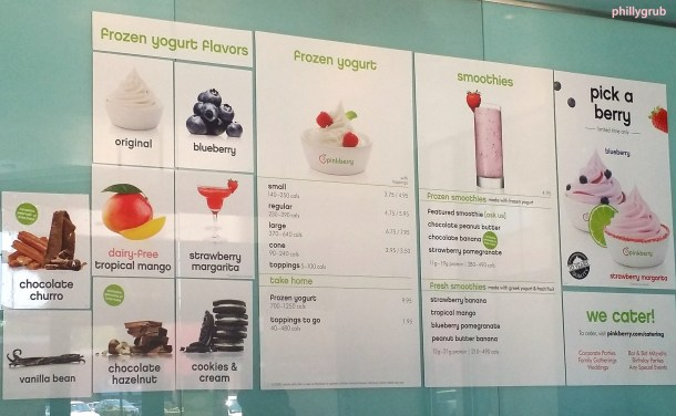 Pinkberry Menu Board