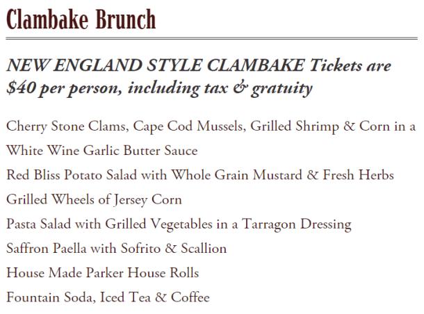 The Olde Bar Clambake Brunch