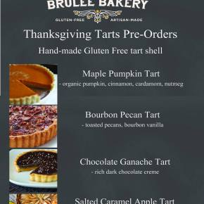 Brulee Bakery Thanksgiving Tart Deadline Approaching