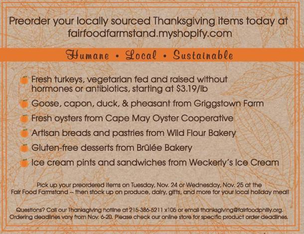 Fair Food Thanksgiving 2015