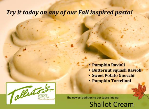 Fall Inspired Pastas at Talluto's
