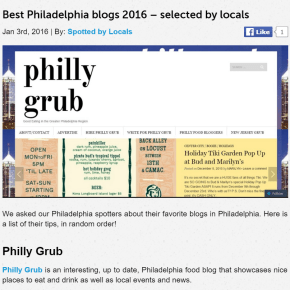 """Spotted By Locals Acknowledge Philly Grub """"Favorite Philadelphia Blog"""""""