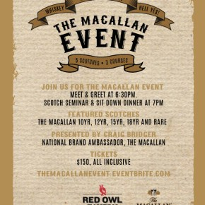 Macallan Scotch Whisky Event at Red Owl Tavern This Thursday