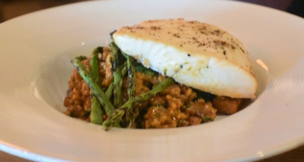 CPK Cherry Hill Hearth-Roasted Halibut