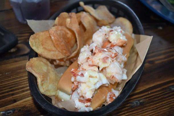 Maine Lobster Roll at Morgan's Pier