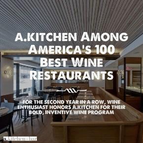 a.kitchen Among America's 100 Best Wine Restaurants