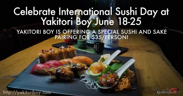 International Sushi Day Yakitori Boy