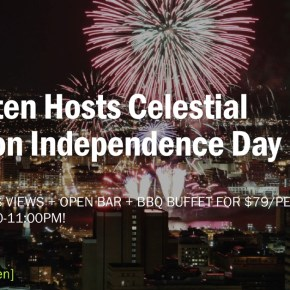 """SkyGarten at 3 Logan Square Hosts """"Celestial Salute"""" on Independence Day"""