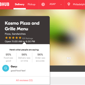 Grubhub Unveils New, Faceted Ratings and Reviews System