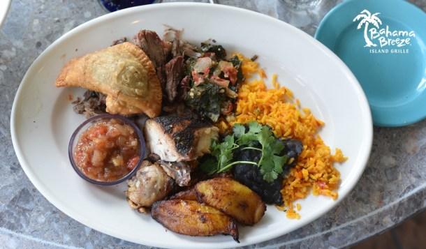Bahama Breeze Taste of Jamaica Platter