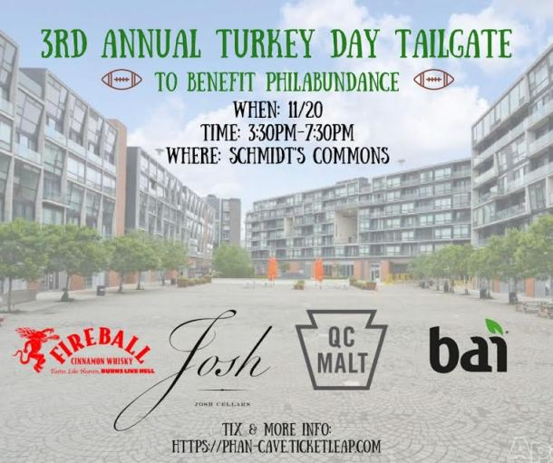 Turkey Day Tailgate at Schmidt's Common