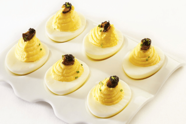 White Truffle Caviar Deviled Eggs from Ocean Prime
