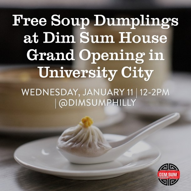 Free Soup Dumplings at Dim Sum House Grand Opening in University City