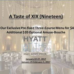 Taste of XIX (Nineteen) Prix Fixe