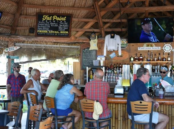 Inside Tiki Bar at Four Points Sheraton Punta Gorda Harborside