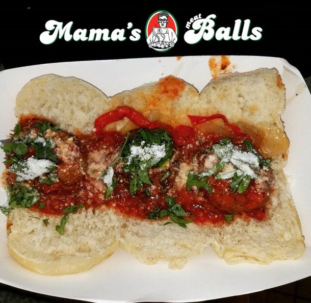 Mamas Meatballs with Logo