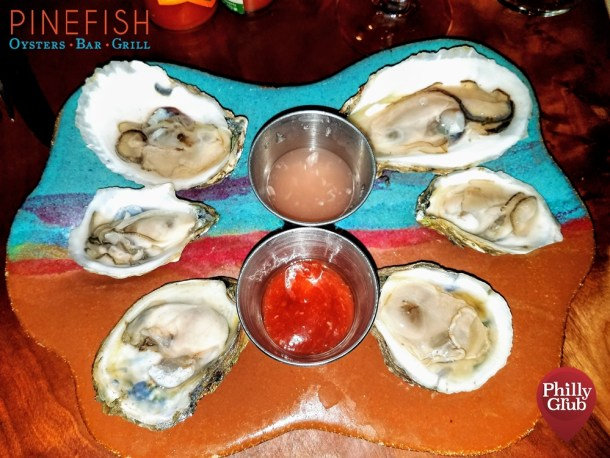 Oysters at Pinefish Philadelphia