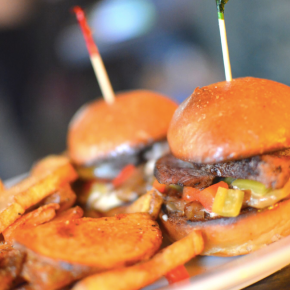Grubspotting: Flat Iron Steak Sliders at MilkBoy