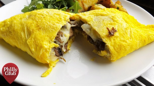 Cheesesteak Omelette Moshulu Brunch